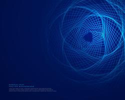 Blauer Technologiehintergrund mit abstrakten Linien