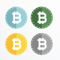 Diseño de vectores de iconos de símbolo de bitcoin