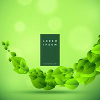 awesome green eco friendly nature background vector