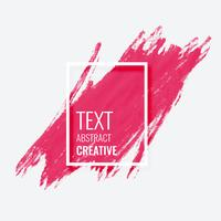pink watercolor brush stroke grunge frame banner design