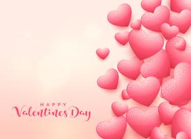 elegant 3d heart background for valentine's day