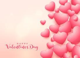 elegant 3d hjärta bakgrund för valentins dag