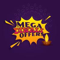 mega diwali festival offer sale banner vector design