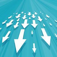 Pfeile, die nach unten Geschäftskonzeptdesign bewegen