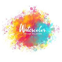 färgstark vattenfärg stänk vektor bakgrund