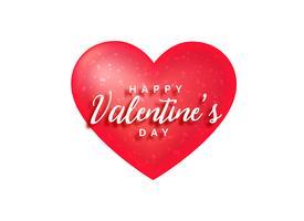 roter Herzhintergrund mit glänzenden Punkten für Valentinstag
