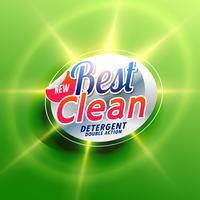 Tvättmedel kreativa förpackningskoncept design i grön kol