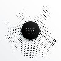 Diseño de fondo de puntos de semitono circular