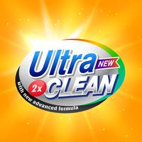 Waschmittel-Werbekonzept für Produktverpackungen in YE