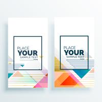 elegante abstracte banners of kaart ontwerp vector