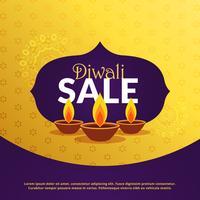 Plantilla de fondo de venta festival diwali con diya