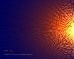 lignes abstraites fond faisant une forme de style de soleil rougeoyant