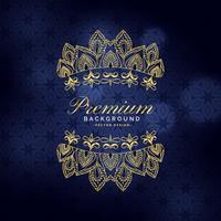 Fondo de decoración ornamental dorado premium