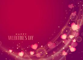 happy valentine's day hearts greeting background