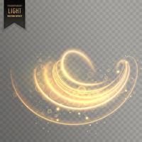 abstrait tourbillonner fond d'effet de lumière transparente
