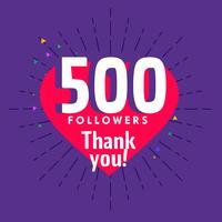 Saludo de 500 seguidores para plantilla de red social.