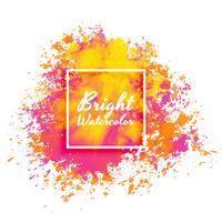Fondo de salpicadura acuarela rosa y amarillo brillante