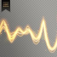 Efecto de luz transparente abstracta en estilo de onda de sonido