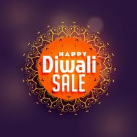happy diwali sale background with mandala decoration