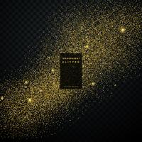 guld glitter konfetti explosion på svart transparent bakgrund
