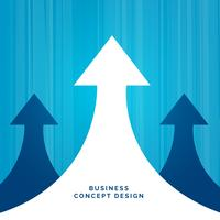 business concept leadership design with arrow