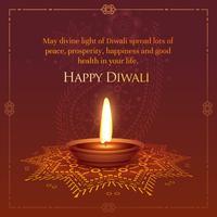 happt diwali souhaitait la conception de cartes de voeux avec gravure de diya