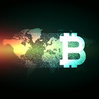 global konceptdesign för digital valuta bitcoin