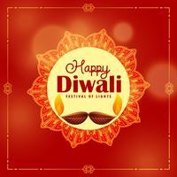 fond de festival de diwali avec décoration de mandala