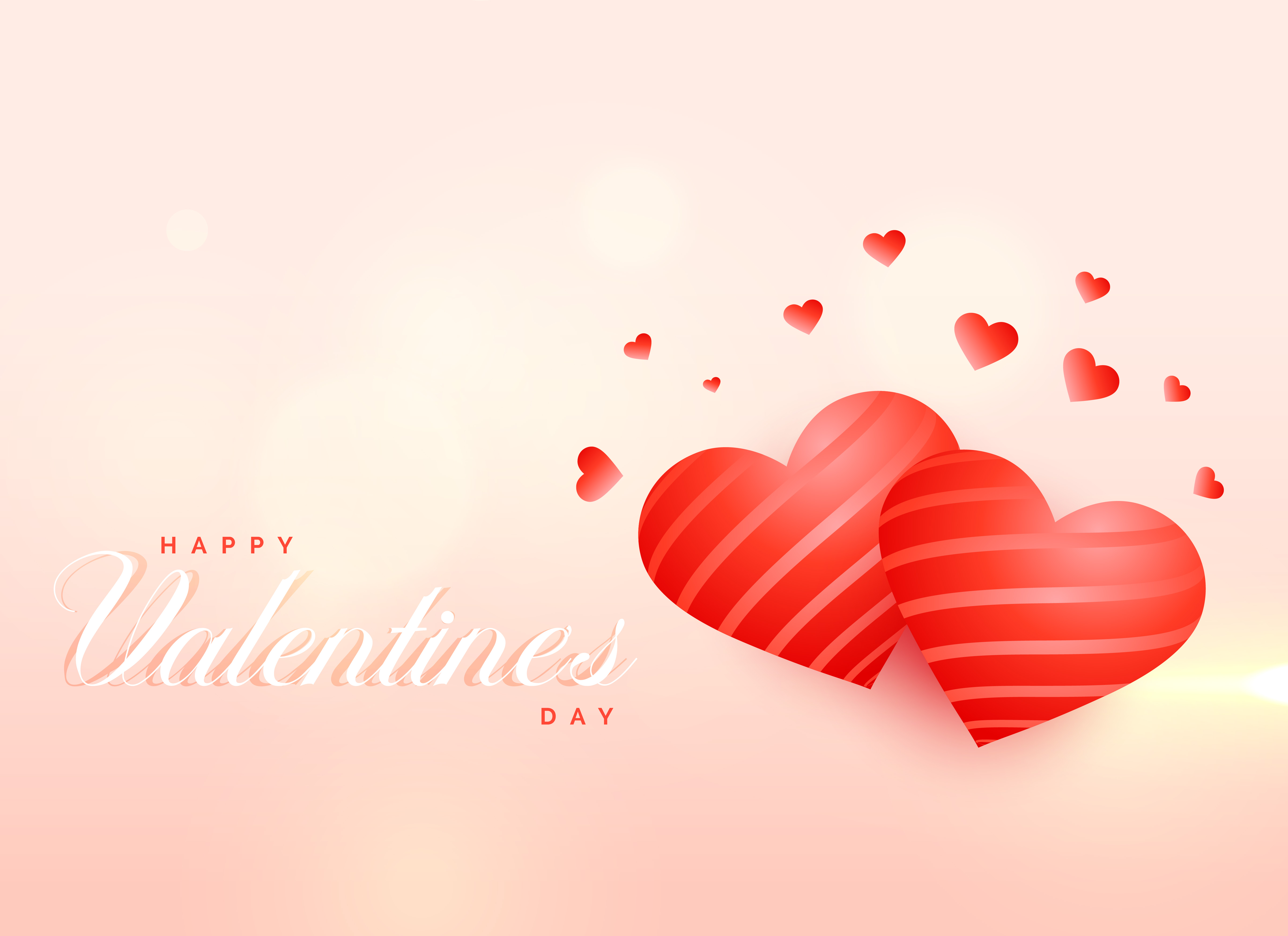 awesome love hearts background for valentine's day - download free