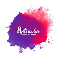 purple red watercolor splash stain vector background