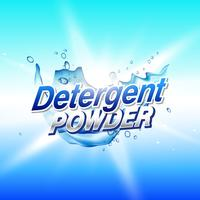 detergent powder cleaning product packaging concept design templ