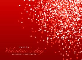 red glitter bokeh background light effect for valentine's day