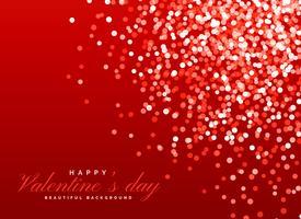 effet de lumière de fond bokeh rouge scintillant pour la Saint-Valentin