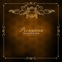 goldenes Vintage Hintergrunddesign der Luxusprämie