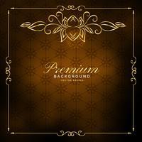 design vintage dorato di lusso premium