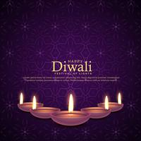 burning diya illustration for diwali festival celebration