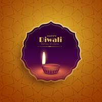 prime salutation festival diwali fond avec lampe diya