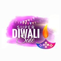 diwali sale und bietet Werbedesign mit kreativer diya