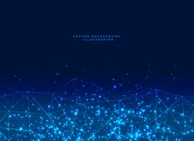 abstrakt futuristisk digitalt nätverk partiklar baner bakgrund