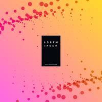 Fondo de puntos de partículas de colores elegantes