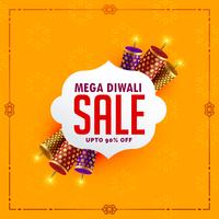 festival sale background with diwali crackers