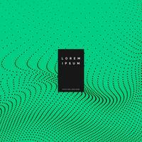 grüner Hintergrund mit Partikeleffekt-Vektorillustration