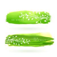 Blattfahne gemacht mit grünem Aquarell