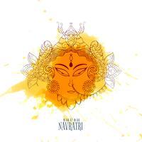 Navratri Feier Illustration mit Maa Durga Gesicht