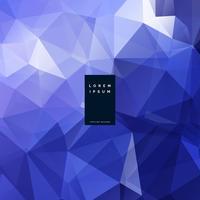 abstrakter blauer niedriger Polygeometrischer Hintergrund