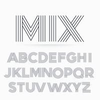 alphabet letter font in line stripe style