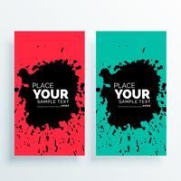 abstracte grunge verticale banners instellen