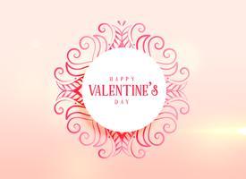 liefde achtergrond voor Valentijnsdag met florale decoratie