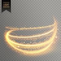 Fondo de efecto de luz dorada transparente