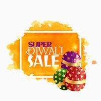 diwali verkoop achtergrond met fonkelende crackers